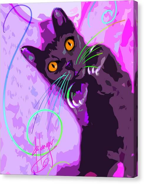 Pop Cat Angel Canvas Print