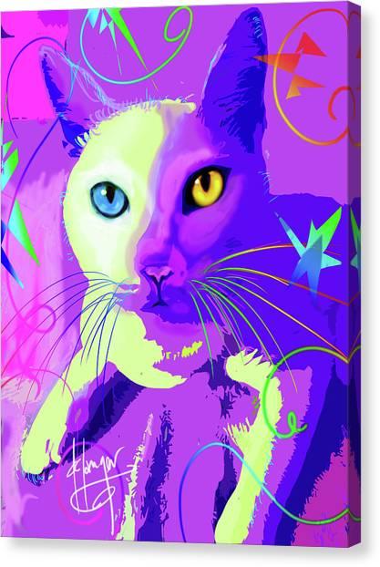 pOp Cat Cotton Canvas Print