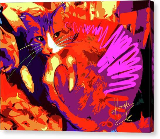 Pop Cat Tiger Canvas Print