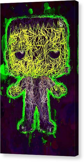 Frankenstein Pop 2 Canvas Print