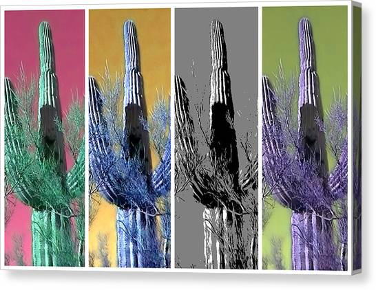 Pop Saguaro Cactus Canvas Print