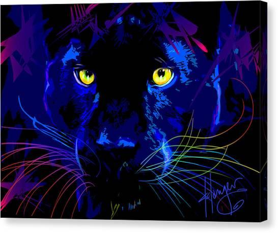 pOpCat Black Panther Canvas Print