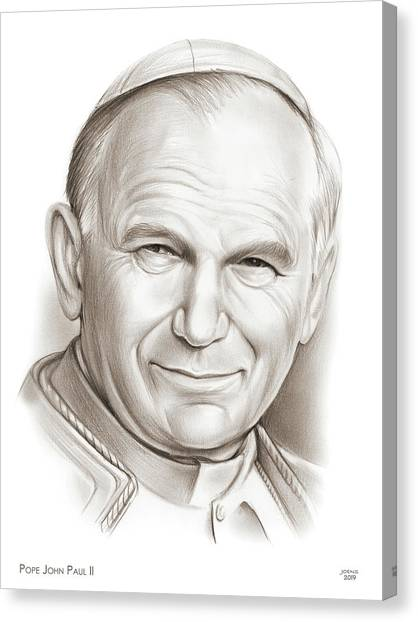 God Canvas Print - Pope John Paul II by Greg Joens