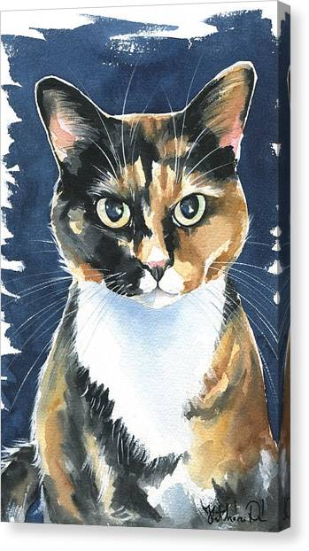 Poppy Calico Cat Painting Canvas Print