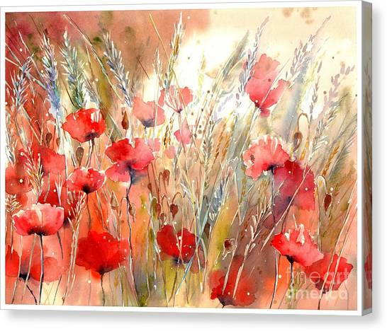 Ears Canvas Print - Poppy Fields Forever by Suzann's Art