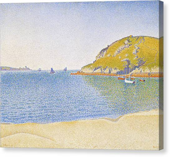 Signac Canvas Print - Port Of Saint-cast - Digital Remastered Edition by Paul Signac