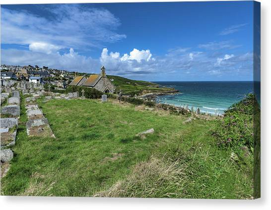 Porthmeor From Barnoon - St Ives Cornwall Canvas Print
