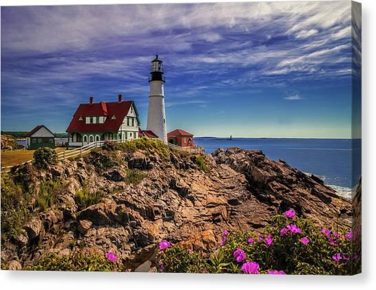 Portland Head Lighthouse Canvas Print by Andrew Soundarajan