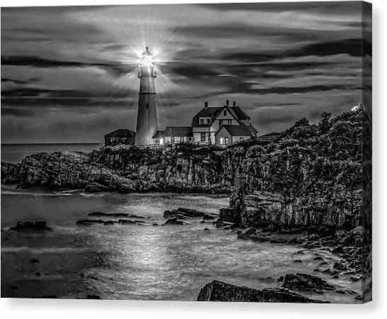 Portland Lighthouse 7363 Canvas Print