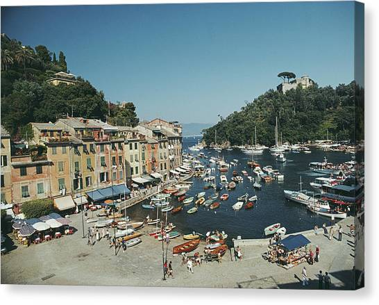 Portofino Harbour Canvas Print by Slim Aarons