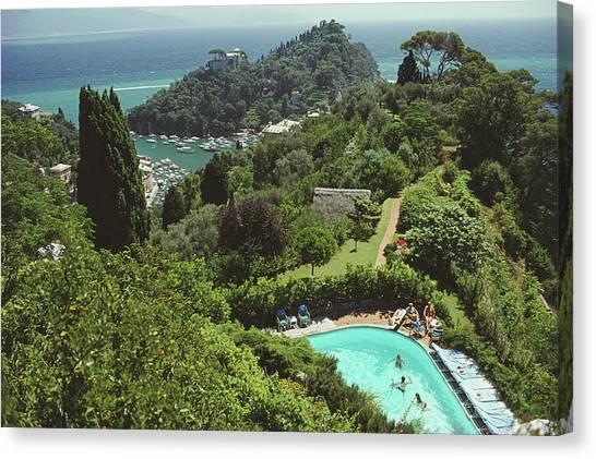 Portofino Villa Canvas Print