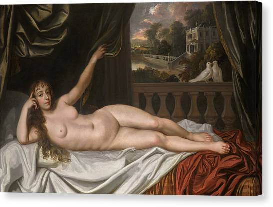 God Of War Canvas Print - Portrait Of Elizabeth Trentham, Viscountess Cullen, As Venus by Sir Peter Lely