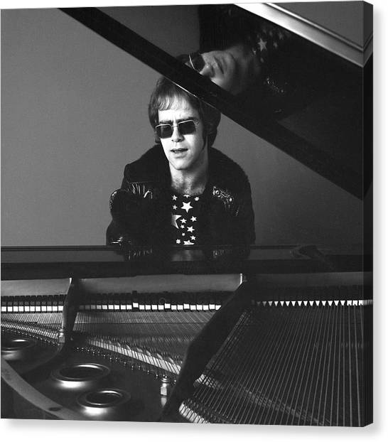Portrait Of Elton John Canvas Print