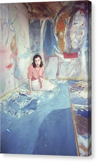 Portrait Of Helen Frankenthaler Canvas Print by Gordon Parks