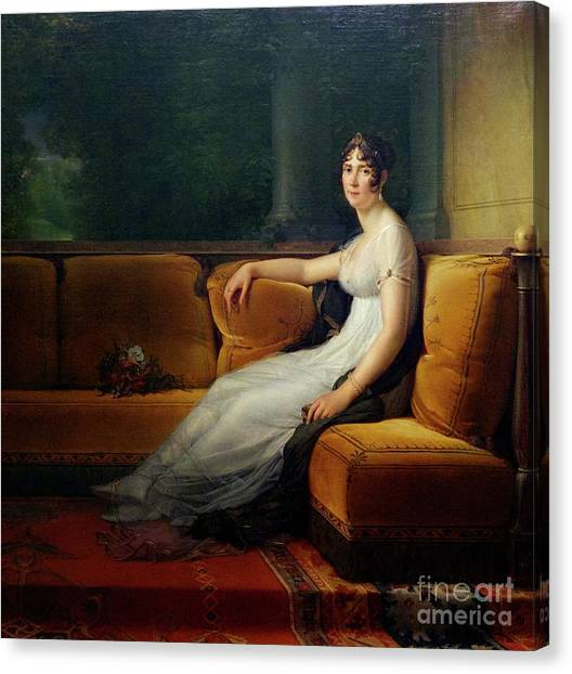 State Hermitage Canvas Print - Portrait Of Josephine by Peter Barritt