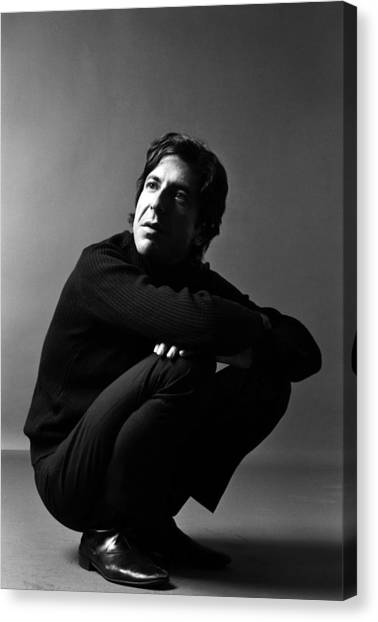 Portrait Of Leonard Cohen Canvas Print by Jack Robinson