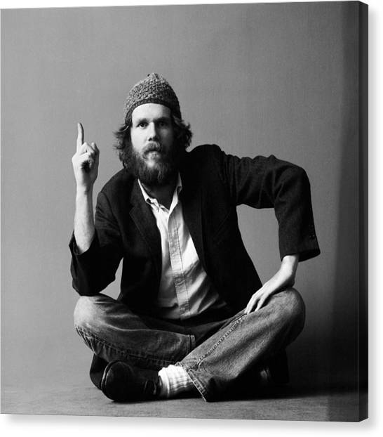 7a9cf27eaff Black Jack Art Canvas Print - Portrait Of Loudon Wainwright IIi by Jack  Robinson