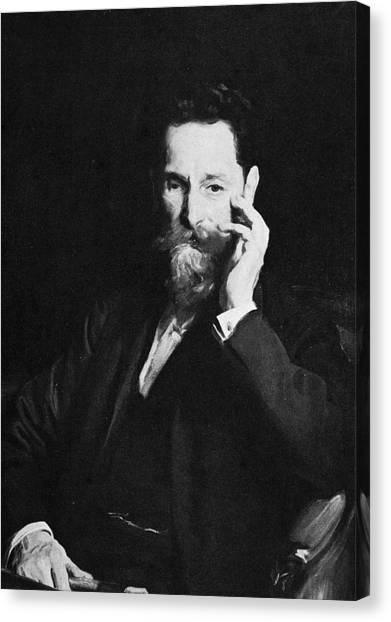 Portrait Of Publisher Joseph Pulitzer Canvas Print by Hulton Archive
