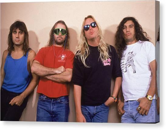 Jeff Hanneman Canvas Print - Portrait Of Slayer by Hulton Archive