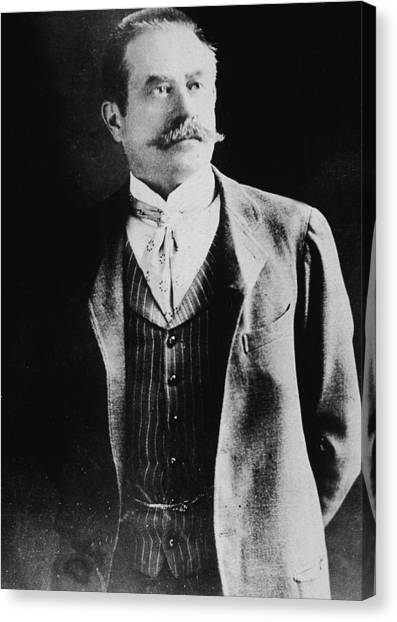 Portrait Of Stanford White Canvas Print by Hulton Archive