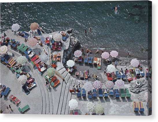 Positano Beach Canvas Print