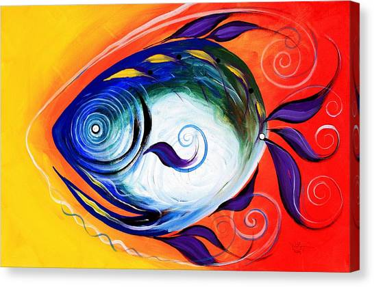 Positive Fish Canvas Print