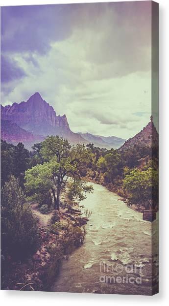 Postcard Image Canvas Print