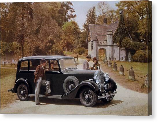 Poster Advertising Rolls-royce Cars Canvas Print