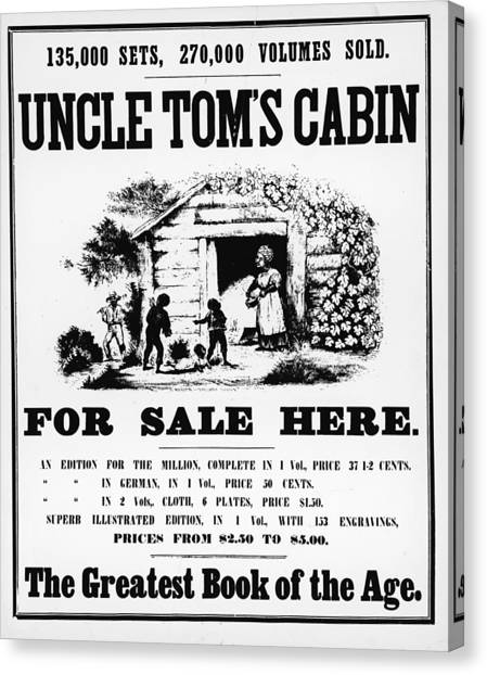 Poster For Uncle Toms Cabin Canvas Print by Kean Collection