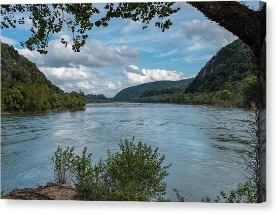 Canvas Print - Potomac River At Harper's Ferry by Charles Kraus