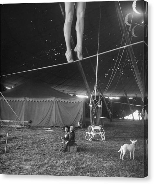 Practice At Ringling Brothers Circus Canvas Print