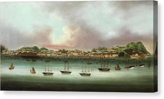 China Town Canvas Print - Praia Grande - Macau by 19th Century