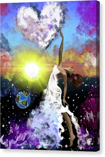 Canvas Print - Prayer Before The Sun Sets by Artist RiA