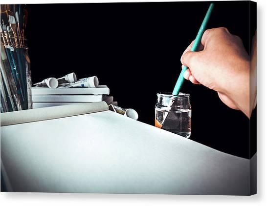 Preparing To Paint Canvas Print
