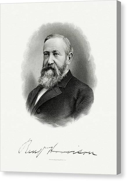 U. S. Presidents Canvas Print - President Benjamin Harrison by The Bureau of Engraving and Printing