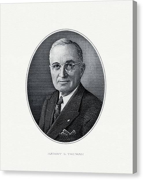 U. S. Presidents Canvas Print - President Harry S. Truman by The Bureau of Engraving and Printing