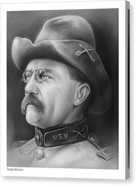 Theodore Roosevelt Canvas Print - President Teddy Roosevelt by Greg Joens