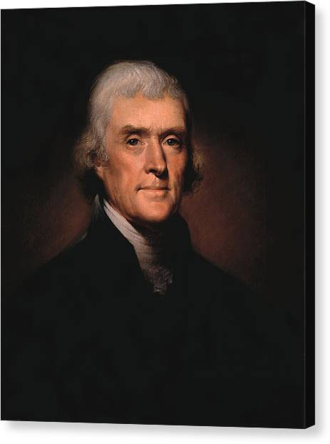 History Canvas Print - President Thomas Jefferson  by War Is Hell Store