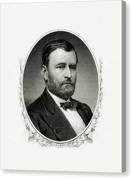 U. S. Presidents Canvas Print - President Ulysses S. Grant by The Bureau of Engraving and Printing