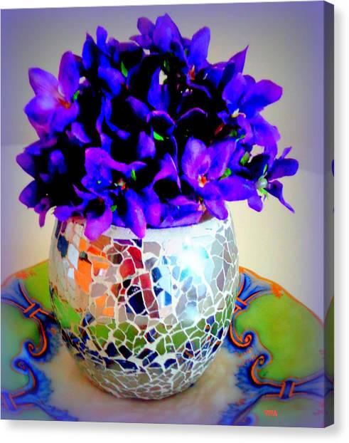 Pretty Purple Petals O T T Canvas Print