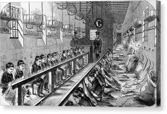 Prisoners At Millbank Canvas Print by Hulton Archive