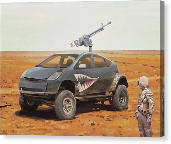 Prius Road Machine Canvas Print
