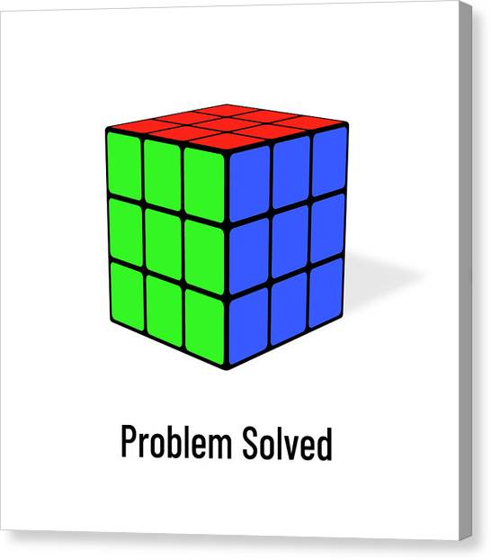 Problem Solved Canvas Print