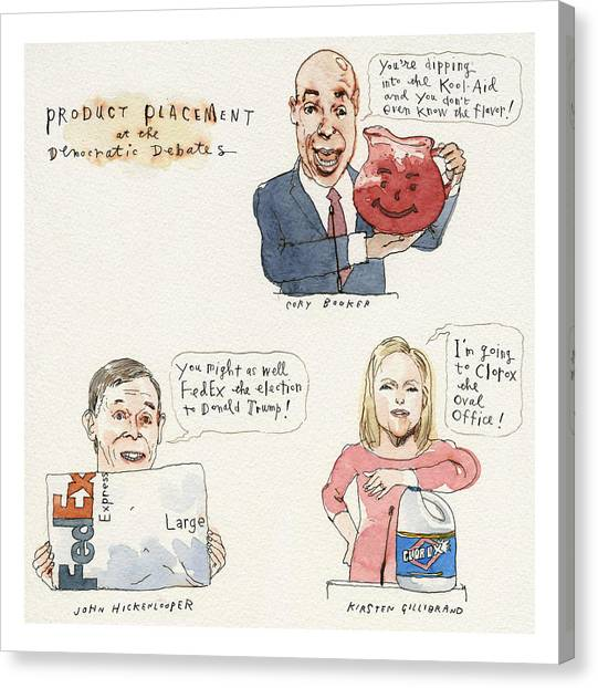 Product Placement Canvas Print by Barry Blitt