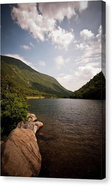 Profile Lake Canvas Print