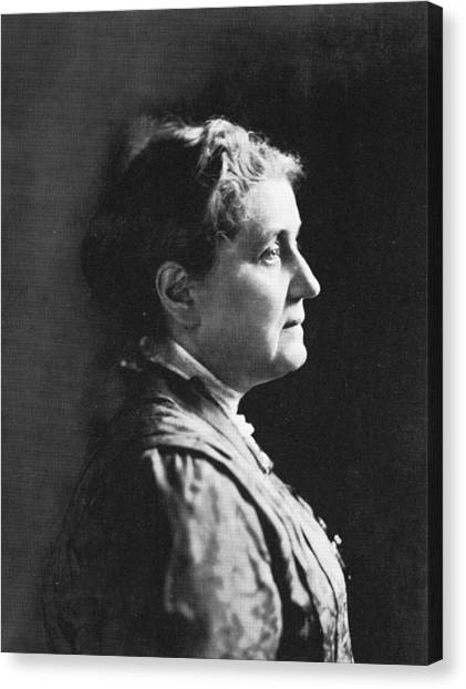 Profile Of Jane Addams Canvas Print by Hulton Archive