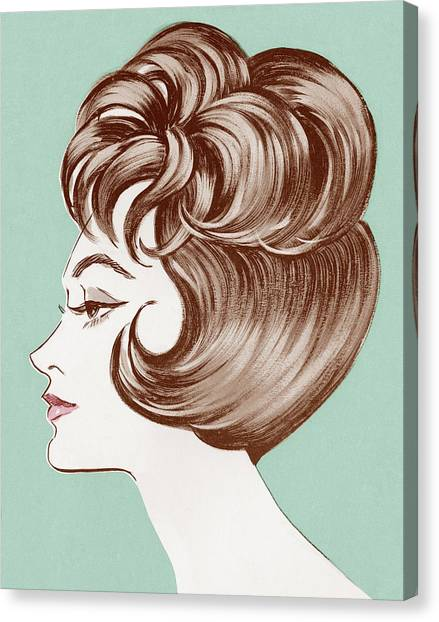 Profile Of Woman Canvas Print