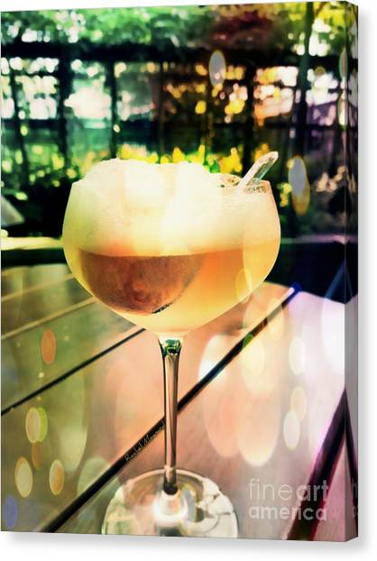 Canvas Print featuring the photograph Prosecco Float by Rachel Maynard