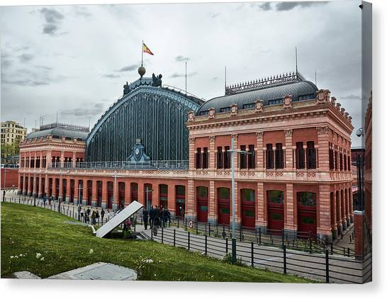 Puerta De Atocha Railway Station Canvas Print