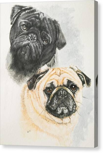 Canvas Print - Pug Brothers by Barbara Keith